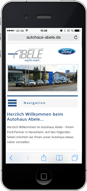 Autohaus Abele - Mobile Webseite