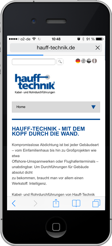 Hauff Technik - Mobile Webseite
